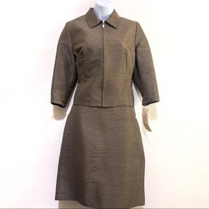 NWT Jessica Ash Olive Green Skirt Suit